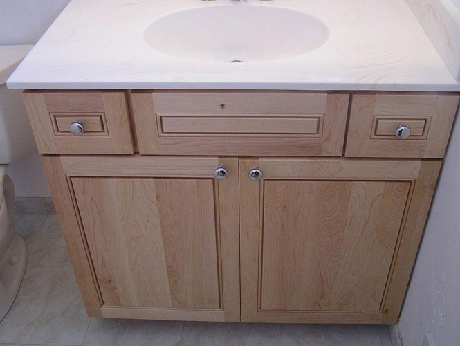 Maple Remodeled Bathroom Cabinet