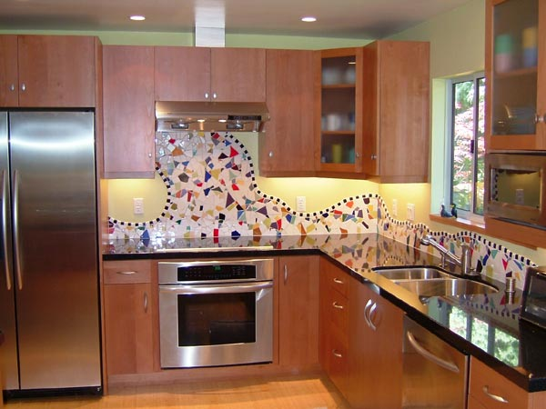 Mosaic Tile Backsplash Kitchen Remodel Marin Design Build Specialists