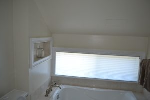 Low roof in bathroom